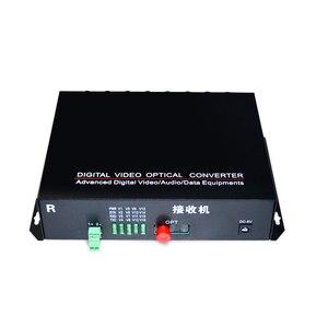 Image 5 - 1 par 2 peças/lote 16 canais de vídeo conversor óptico 16v1d fibra óptica vídeo transmissor óptico & receptor 16ch + rs485 dados