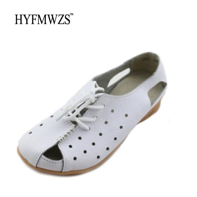 New Arrivals Fashion Designers Flat Shoes Women Soft Breathable Ballet Flats Lace Up Mother Shoes Woman Non-Slip Nurse Shoes hyfmwzs soft and breathable flat shoes women slip on non slip leather shoes woman comfortable lace up ballet flats zapatos mujer