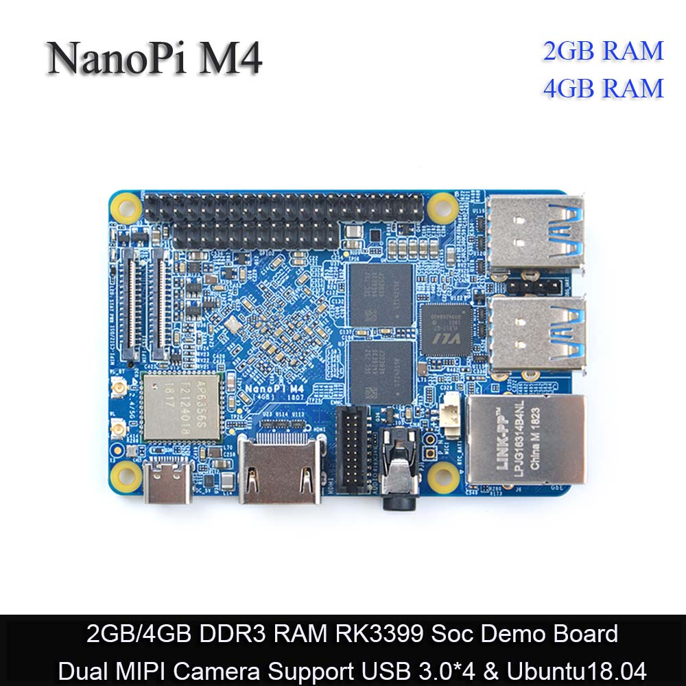 FriendlyARM NanoPi M4 2GB/4GB DDR3 Rockchip RK3399 SoC 2.4G & 5G dual-band WiFi,Support Android 8.1 Ubuntu, AI and deep learning Сварка
