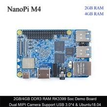 FriendlyElec NanoPi M4 2GB/4GB DDR3 Rockchip RK3399 SoC 2,4G & 5G dual banda WiFi, soporte Android 8,1 Ubuntu, AI y deep learn