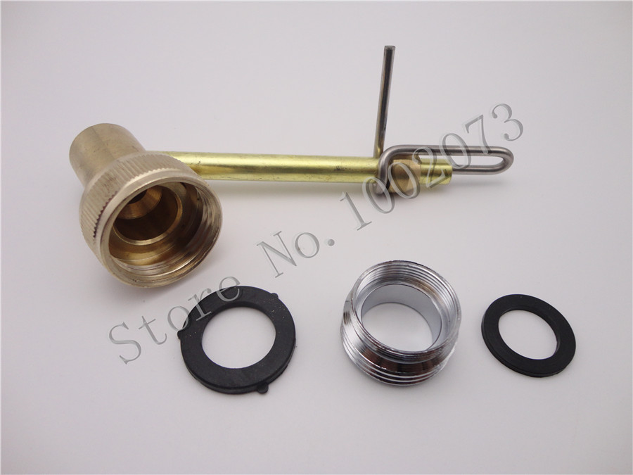 Brass carboy jet bottle washer sink faucet adapter
