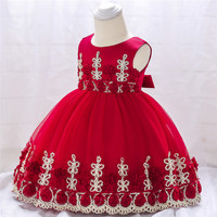 Платье принцессы с цветочным рисунком для маленьких девочек, свадебное платье для маленьких девочек, кружевное платье-пачка, детское праздничное платье, Vestidos Для 1 года, день рождения
