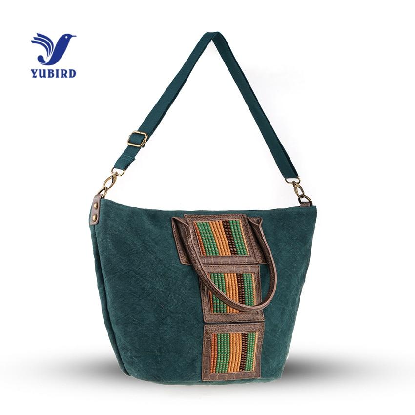 YUBIRD Female Bag Large Canvas Tote Bag Vintage Ladies Hand Geometric Bag Women Shoulder Bags Large Capacity Bolso de mano mujer