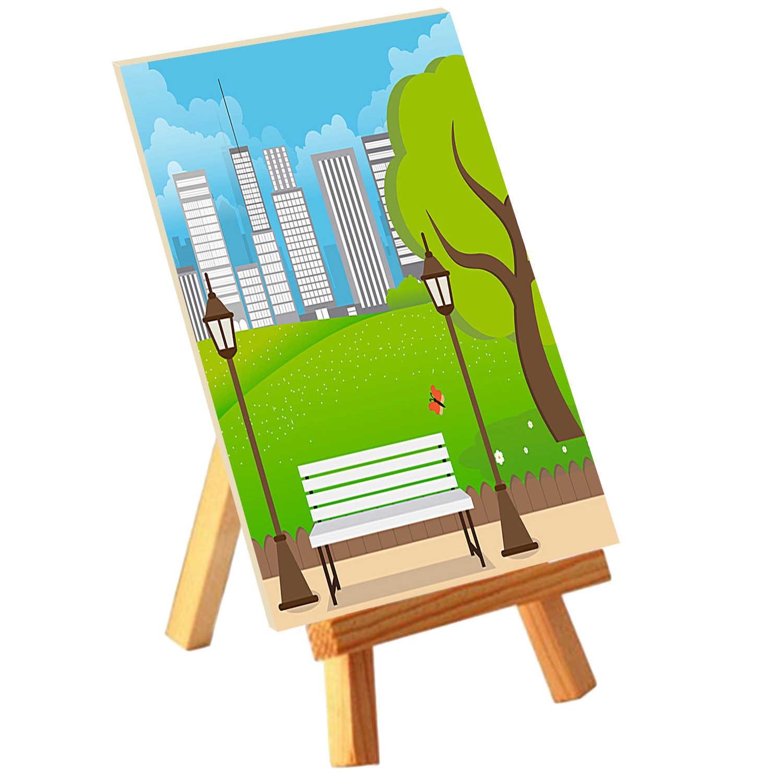 5 Pcs Anak Mini Kayu Menampilkan Kuda-kuda Dudukan untuk Seni Lukisan Kanvas Dekorasi Papan Tulis Cat Mainan Hadiah