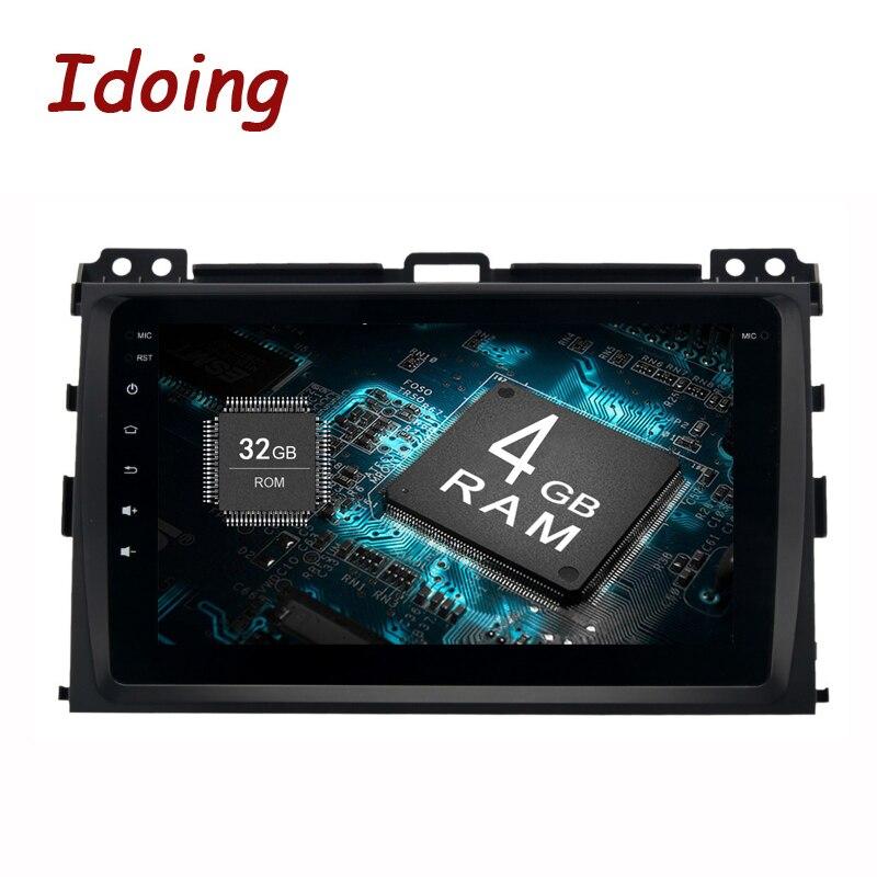 Idoing 2Din8 Voiture GPS Lecteur Pour Toyota Prado 120 2004-2009 Android8.0/7.1 Volant Tactile écran 4 gb + 32 gb Rapide Démarrage NO DVD
