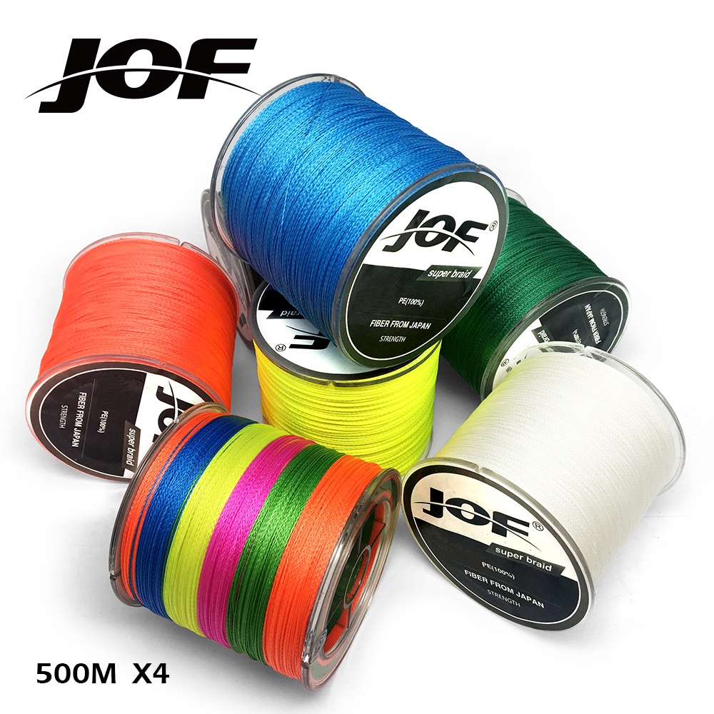500M JOF Brand Power Up Series Good Quality Japan PE Braided Fishing Line Multifilament Fish Line Rope 10LB-80LB