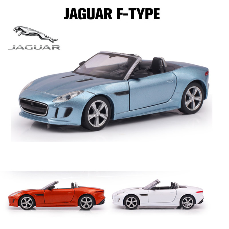 alloy toy car 135 scale model jaguar f type collection roadster model pull back diecast top grade metal car kids toys fswob