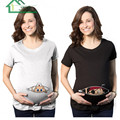 Funny T-shirt  for Pregnant Women Short Sleeve 2016 East Knitting Pregnancy Tees Cute Mother Maternity T Shirt Plus Size Outlet