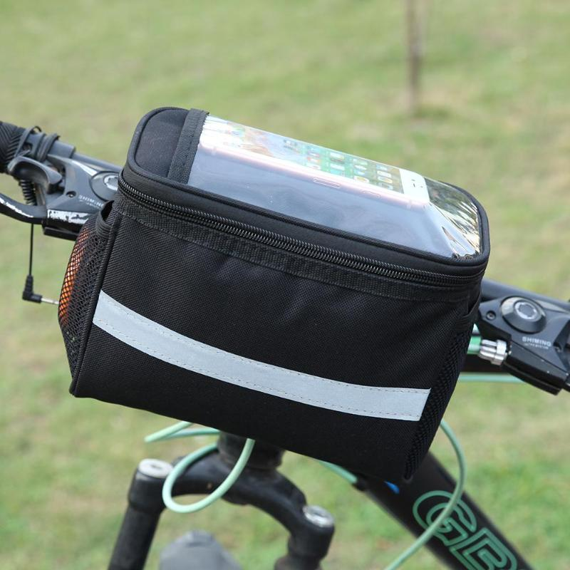Bike Bag Bicycle Front Handlebar Bags Touch Screen Phone Holder Mtb Road Bike Case Bicycle Accessories Frame Cycling Pouch Bag Bicycle Bags Panniers Aliexpress