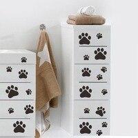 Renkli Köpek Kedi Paw Print Duvar Çıkartmaları Yürüyüş Paw Baskılar Duvar çıkartması Home Art Dekor Gıda Çanak Odası Evi Kase Araba Sticker *