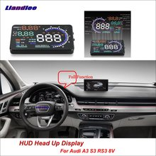 Liandlee For Audi A3 S3 RS3 2013-2018 Full Function OBD Car HUD Head Up Display Projector Windshield Safe Driving Screen цена и фото