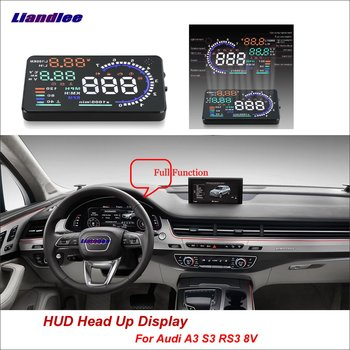 liislee car hud head up display for honda accord civic 2015 2016 safe driving screen projector refkecting windshield Liandlee For Audi A3 S3 RS3 2013-2018 Full Function OBD Car HUD Head Up Display Projector Windshield Safe Driving Screen