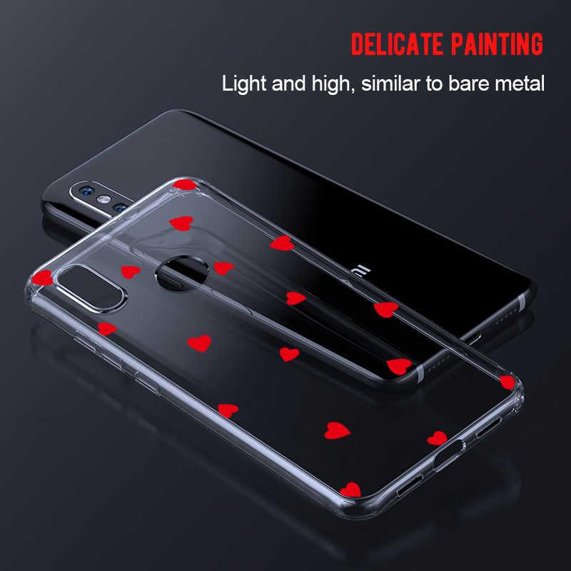 Soft Case Telefone TPU Para Xiao mi mi 8 9 6 A1 mi mi mi A2 8 9 Vermelho Pro 6A 7 Nota 5 Pro 6 7 Pro Padrão Voltar Capa Fundas Coque Shell