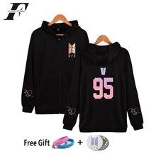 89e1ac22ae7 2018 BTS KPop bts Love Yourself Answer cotton zipper hoodie sweatshirt women  men Unisex Fans winter