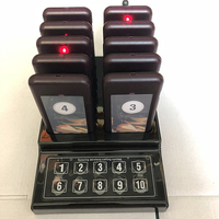 SHIHUI 10 Pagers 1 Keypad Transmitter Pager Restaurant Wireless Calling System 10 Channel Guest Queuing Paging System