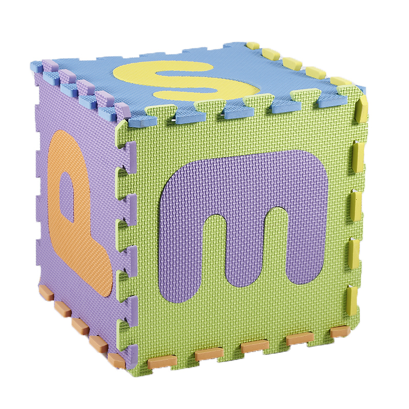 36pcs EVA Letters plus numbers mats Puzzle and Magic Cubes Kid Educational Toy Alphabet A-Z Letters Numeral Foam Mat Pop