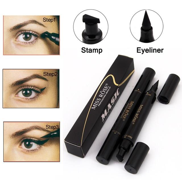 23e4175f126 Brand Makeup Miss Rose Liquid Eyeliner Pencil Waterproof Eye Liner Black  Color Eye Pencil Stamp Korea