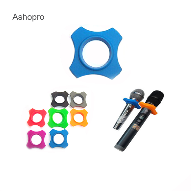 Anti Slip Microphone Roller Protection Silicone Skid Proof Mic Accessories Replacement For Handheld Mic Parts Antislip Sleeve