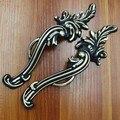 """5 """"Antique Distress Armário de Cozinha Puxa, black Wardrobe Alças Antique brass Móveis maçanetas Puxadores de Bronze puxa"""