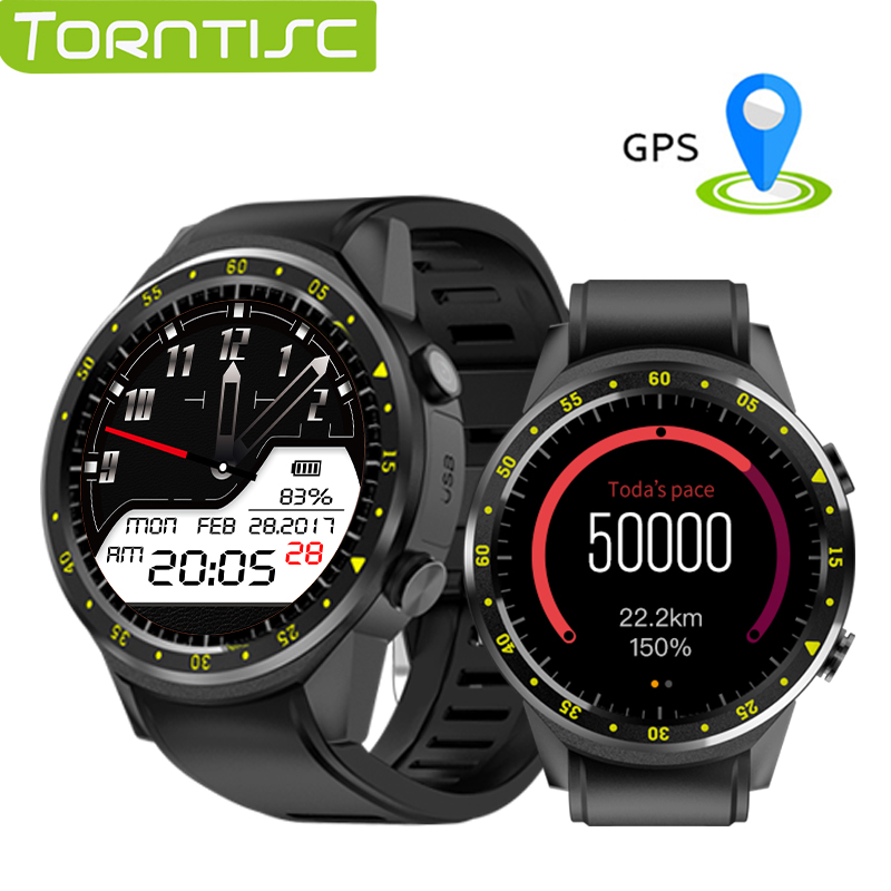Torntisc Smart Watch F1 Heart Rate tracker Smartwatch GPS wristwatch Support Sim TF Card Multi Sports modesl with 300W HD Camera