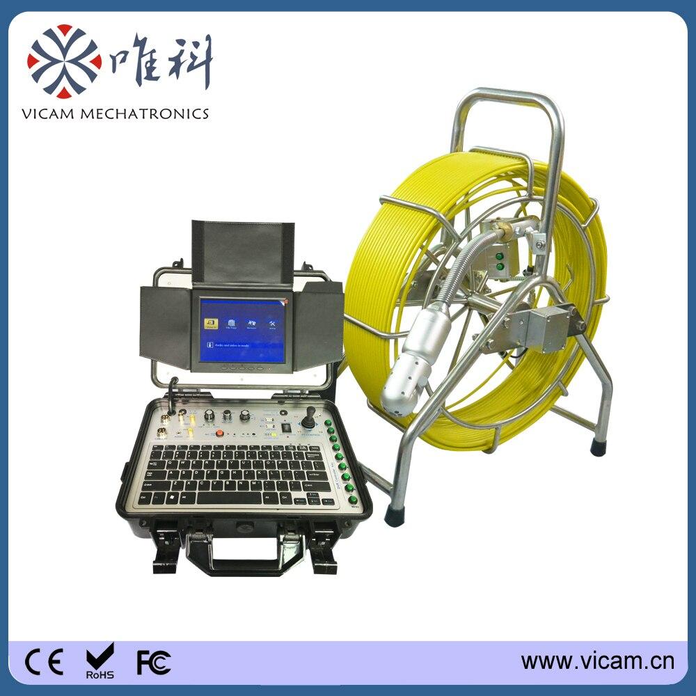 Rohrleitungsinspektionen Kamera System Mit 40mm Selbstverlauf Kamera Wasserdichte Endoskop Endoskop Unterwasser Luftkanal Schubstange Messung Und Analyse Instrumente