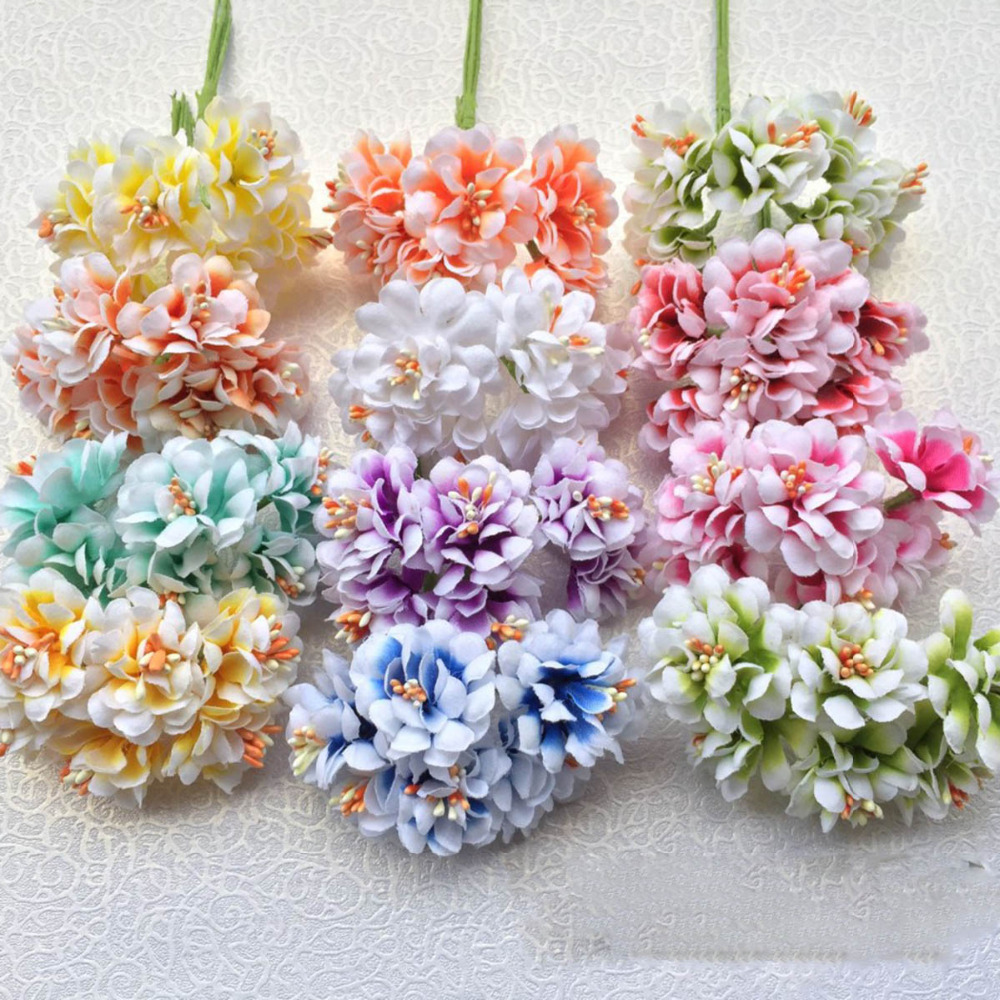 Hot Sale 6pc Silk Forest Style Daisy Artificial Flower Bouquet For
