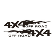 2pcs 4x4 OFF ROAD Car Sticker 30*5.5cm Decal Styling Motorcycle Auto Decoration Accessories