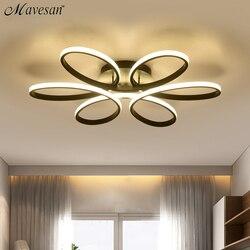 Lámpara led moderna para sala comedor dormitorio cuerpo de aluminio interior del hogar iluminación lámpara fixture AC90v-260v