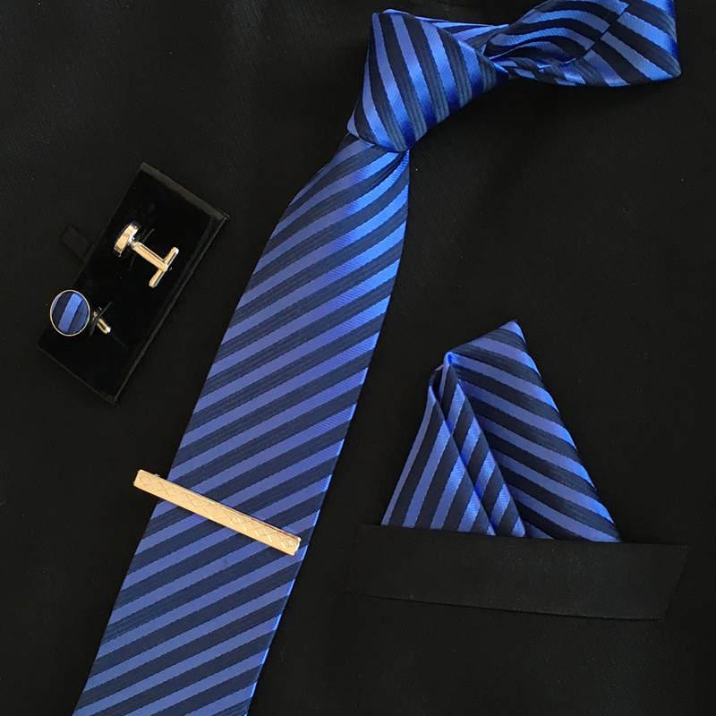 SHENNAIWEI manar 8cm mode märke lyxiga slipsar fyrkantiga bröllop - Kläder tillbehör - Foto 5