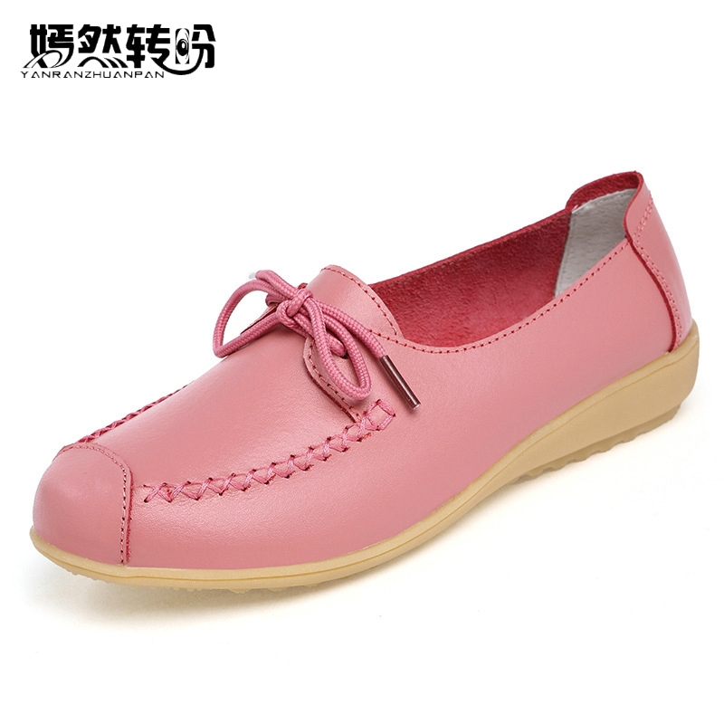 Genuine Leather Women Shoes Flats Fashion Casual Lace Up Moccasins Loafers Ladies Shoes Woman Sapatilhas Zapatos Mujer 2017 autumn fashion real leather women flats moccasins comfortable summer ladies shoes cut outs loafers woman casual shoes st181