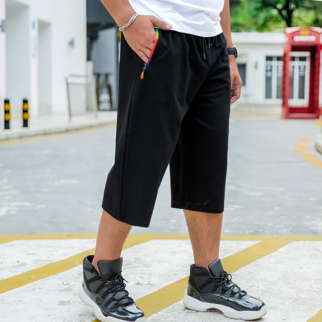 Verão dos homens Grandes Estaleiros Soltas Ocasional vestido Preto Novo Estilo Puro Algodão Confortável Elástico Masculino Roupas Plus Size 6XL 7XL 8XL
