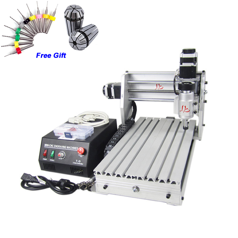 цена на Desktop CNC router 3020 Z-DQ Mini cnc machinery with ball screw wood PCB milling machine