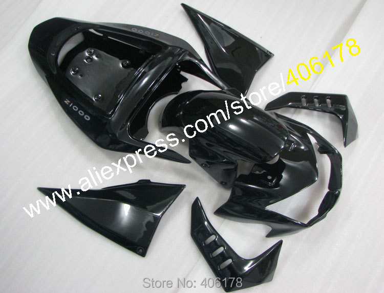 Alibaba Fairings Kit For Kawasaki Z1000 03 04 05 06 Z 1000 2003 2004 2005 2006 Black Aftermarket Motorcycle Fairing