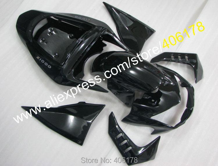 Hot Sales,Alibaba Fairings Kit For KAWASAKI Z1000 03 04 05 06 Z 1000 2003 2004 2005 2006 Black Aftermarket Motorcycle Fairing