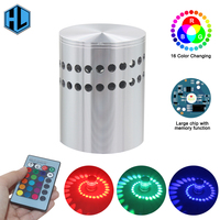 Простой и быстрый Установка 3 Вт светодиодный настенный светильник бра AC85-265V Алюминий стены/потолочное крепление Освещение светильник для ...