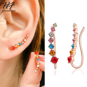85a0da465 Colorful Ear Cuff Earrings for Women Four-Prong Setting 7pcs—Free Shipping