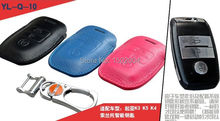 Натуральная Кожа Ключа Автомобиля Сумка/Ключевой Бумажник Дело Держатель Обложка Для Kia SORENTO K3 K4 K5 Smart Key