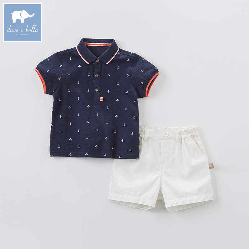 ab6791d3d7a9 ... DB8290 dave bella summer baby outfits children high quality clothes  kids fashion suit infant toddler boys ...