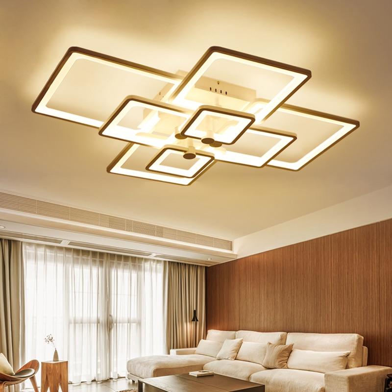New Square Rings Designer Modern Led Ceiling Lights For