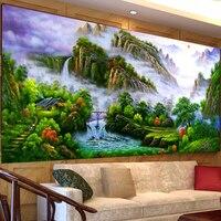 5D поделки алмазов картина вышивка крестиком Majestic пейзаж Картина Алмазная вышивка мозаики китайский стиль гостиной украшение
