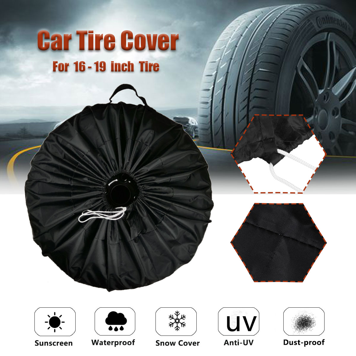 S/L Universal Car SUV Tire Cover Case Spare Wheel Covers Bag Polyester Tyre Spare Storage Cover For RV Motorhome
