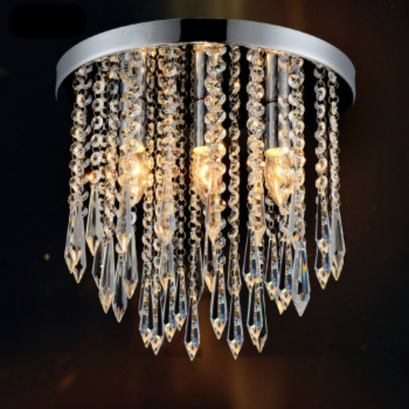 ФОТО Modern Fashion Luxurious Round Crystal Led E14 Ceiling Lamp For Aisle Corridor Entrance Deco Lights Dai 15/20/25cm 1898