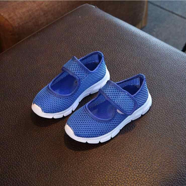ילדי ספורט נעלי אביב קיץ חדש אופנה לנשימה ילדים בני נטו נעלי בנות אנטי חלקלק סניקרס תינוק פעוט נעליים