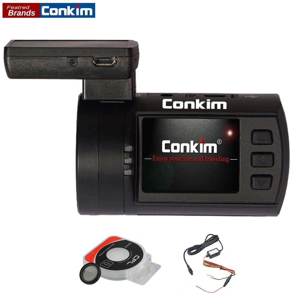 Conkim voiture DVR caméra Ambarella A7 1296 P 1080 P HD DVR voiture boîte noire GPS enregistreur détecteur de mouvement Auto vidéo registraire mini 0806 s