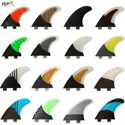 ISF fibra de carbono venda Quente quilhas de favo de mel de surf fcs aletas prancha pranchas de surf barbatanas sup barbatanas thruster G5