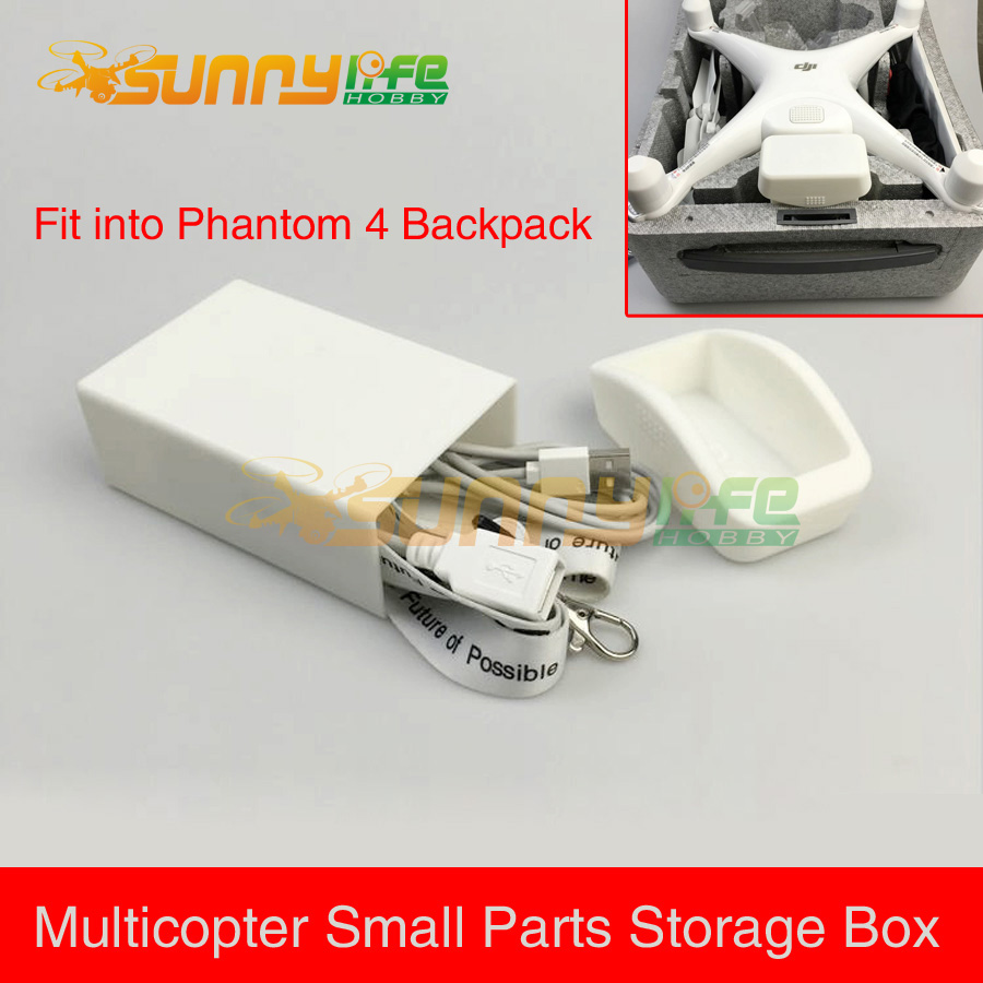 3D Printed Small Parts Accessories Storage Box Cable Carrying Case for DJI Phantom 4 Multicopter