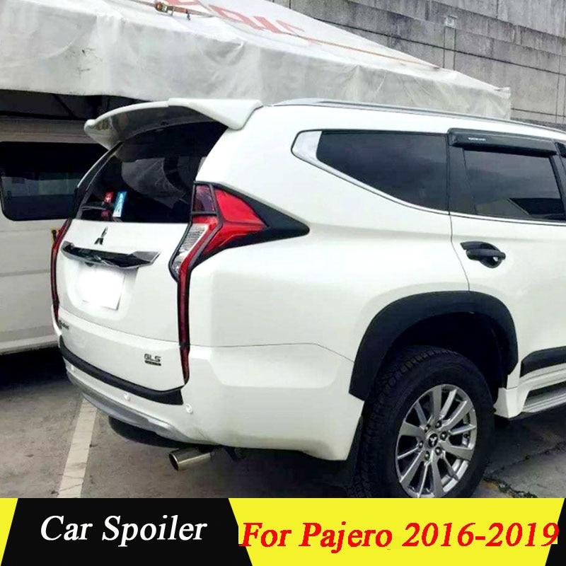 For Mitsubishi Pajero Sport 2017 ABS Plastic Rear Trunk Wing Spoiler For Mitsubishi Pajero Spoiler 2016 2017 2018 2019