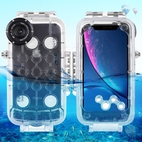 Haweel for iphone xr 40m/130ft Professional Waterproof Diving Housing Photo Video Taking Underwater Cover Case For iPhone XR
