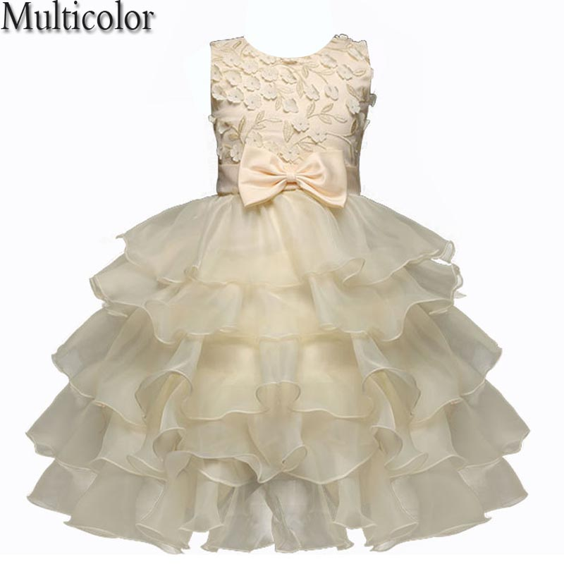 Multicolor Summer Dress For Girls Baby Girl Butterfly Birthday Party Dresses Children Fancy Princess Ball Gown Wedding Clothes summer 2017 princess baby girl clothes for children and infants 3 7 girls dress for party and wedding dark purple kids dresses