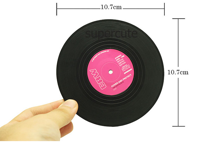 6 Pz/set Casa Tabella Stuoia Della Tazza Creativa Decor Coffee Drink Tovaglietta Spinning Retro Vinyl CD Record Drinks Coasters-in Tovagliette e sottobicchieri da Casa e giardino su  Gruppo 2